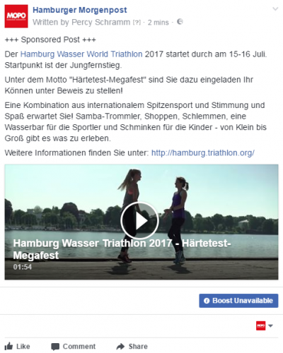 FB Post Hamburg Wasser Triathlon